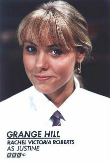 Rachel Victoria Roberts as Justine in Grange Hill