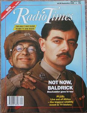 Radio Times Sept 1989 ft. Blackadder