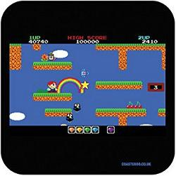 Rainbow Island 80s Computer Game Drinks Coaster mat