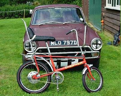 Red Raleigh Chopper in the 70s