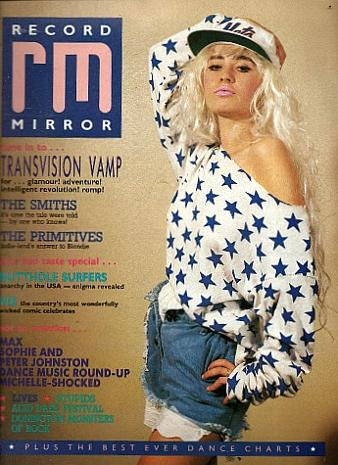 Wendy James on the cover of Record Mirror magazine Sept 1987