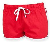 Ladies Red Retro Drawstring Shorts (3 colours)
