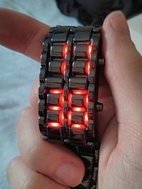 Red LED sci-fi watch