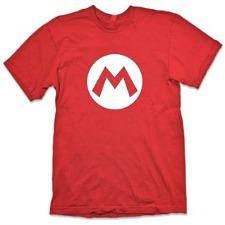 Red Mario Bros Logo T-shirt