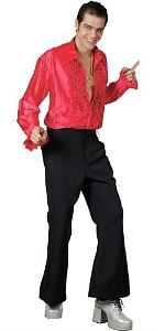 Red Ruffle Shirt for men - 70s disco
