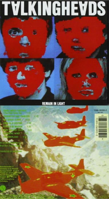 Remain in Light LP (front and rear of sleeve) Talking Heads (1980) LP