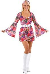 Retro Flower Power Go Go Girl Costume