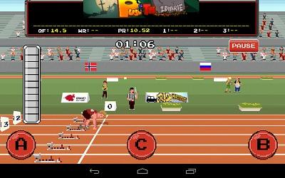 Retro Sports Game - start of 100 meters