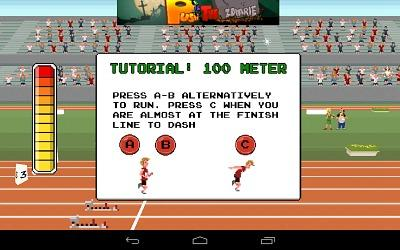 Retro Sports Tutorial for 100 Meter race