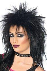Rock Diva - Black, Spiky Wig for Women
