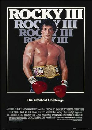 Rocky III movie poster ft. Sylvester Stallone