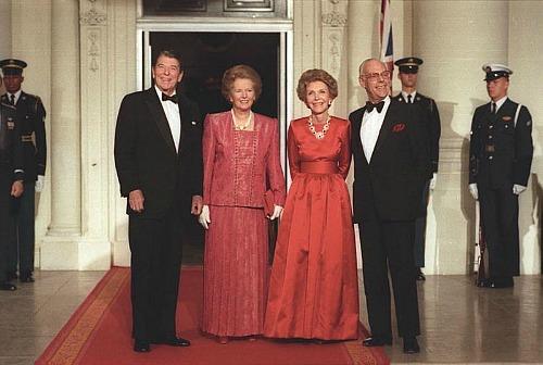 Ronald Reagan and Margaret Thatcher in the White House