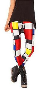80s Rubik's Cube Colours Leggings