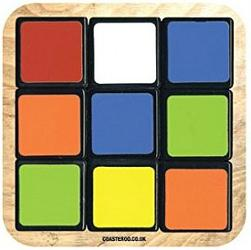 Rubik's Cube 80s Puzzle Toy Drinks Coaster