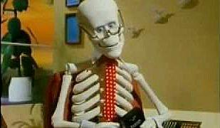 Archie the skeleton in the Scotch Video Tapes 80s Adverts