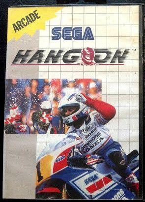 Sega Hang-On cartridge case for the Master System
