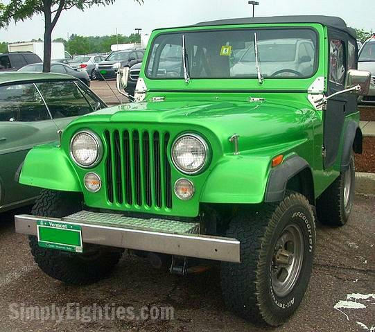 Green Jeep CJ-7 1980s