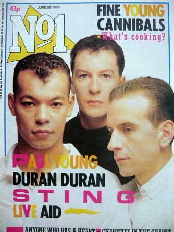 No1 Magazine June 29th 1985 - Fine Young Cannibals