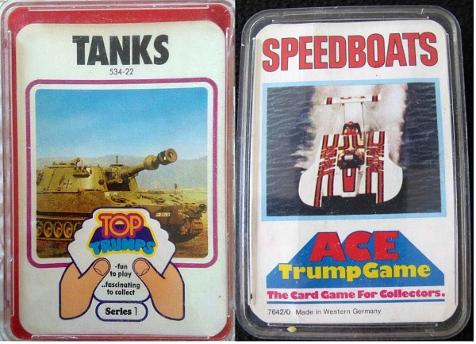 Top Trumps Tanks and Ace Trump Speedboats