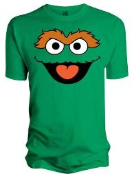 Sesame Street Oscar the Grouch Face T-shirt for Men