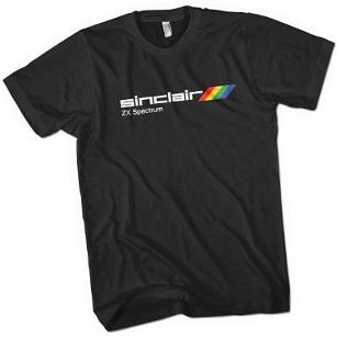 Sinclair ZX Spectrum Logo T-Shirt (Black or White) £11.95