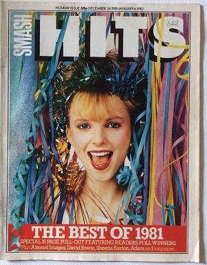 Clare Grogan on the cover of Smash Hits in December 1981