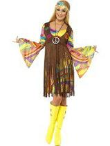 1960's Groovy Hippy Lady Plus Size Costume