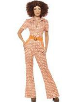 Smiffys 70s Chic Costume for Ladies
