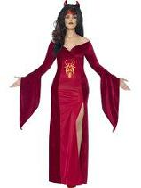 Smiffys Curvy Red Devil Lady Costume