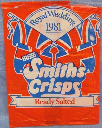 Royal Wedding 1981 Smiths Crisps - Ready Salted