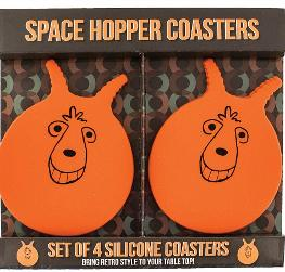 Paladone 70s 80s Retro Space Hopper Silicone Drink Coaster Mats