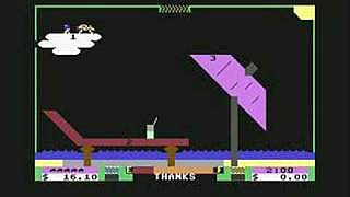 Space Taxi game - screenshot C64