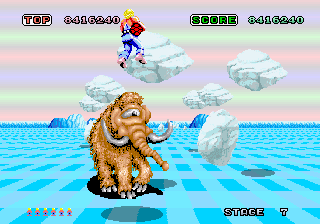 Space Harrier gameplay ft. the cyclops mammoth