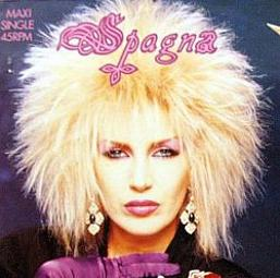 Spagna's big 80s hair!