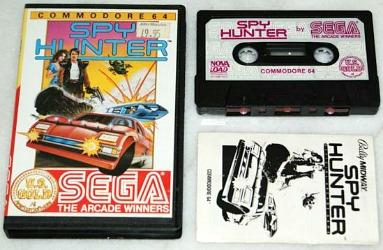 Spy Hunter C64 cassette and manual