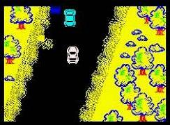 Spy Hunter screenshot from the ZX Spectrum version