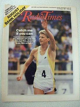 Runner Steve Cram on cover of Radio Time in 1986