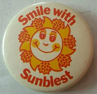 1970s Sunblest Bread Pin Badge