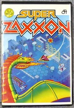 Super Zaxxon cassette case front (US Gold) for the C64