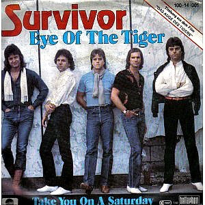 Survivor - Eye Of The Tiger vinyl single sleeve