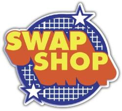 Swap Shop Logo BBC Car Bumper Sticker