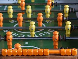 Old Table Football Game