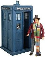 Tom Baker with his TARDIS in the 80s