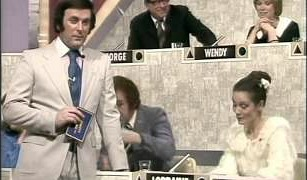 Terry Wogan on Blankety Blank with Lorraine Chase, Lenny Bennett and Wendy Craig in the background
