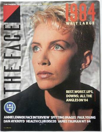 Annie Lennox on the cover of The Face magazine (1984)