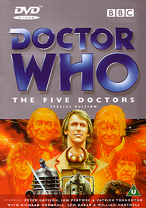 The Five Doctors DVD sleeve front cover