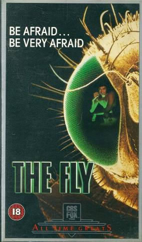 The Fly VHS video tape sleeve (UK)