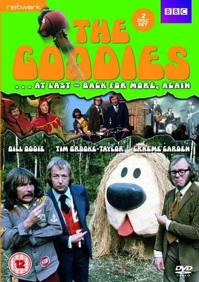 The Goodies with giant Dougal dog