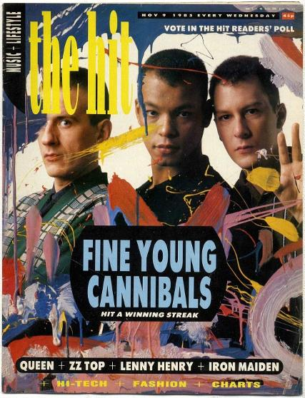 The Hit magazine Nov 1985 ft. Fine Young Cannibals