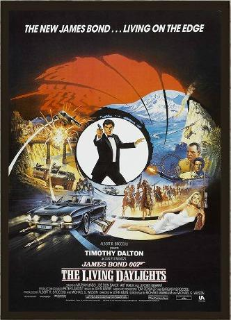 James Bond - The Living Daylights poster ft. Timothy Dalton (1987)